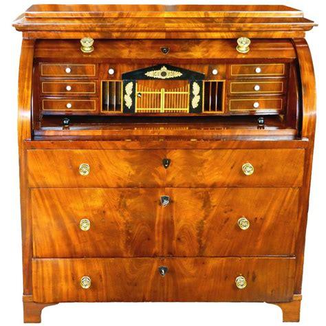 top bureau 19th century biedermeier cylinder top bureau desk at 1stdibs