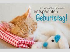 Minikarte Geburtstagskarte schlafende Katze Entspannter