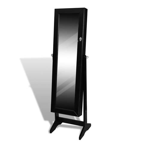 free standing mirror jewelry armoire black free standing jewelry cabinet with mirror vidaxl