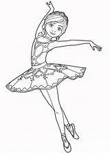Coloring Ballet Pages Dancers Gorgeous Dancer Forkids Dance Dancing Lovely Dress sketch template