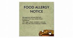 Food Allergy Notice Poster Zazzle co uk