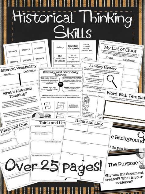 historical thinking skills activities secondary social