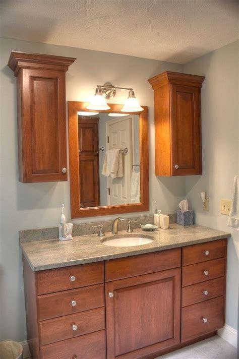 cherry bathroom cabinets cherry wood bathroom granite countertop two wall 12307