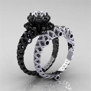 Caravaggio Lace 14K Black And White Gold 10 Ct White