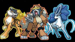 Pokemon: Raikou, Entei, Suicune by TwilightWolfCourage on ...