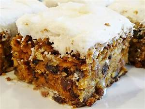 carrot cake with pineapple and raisins