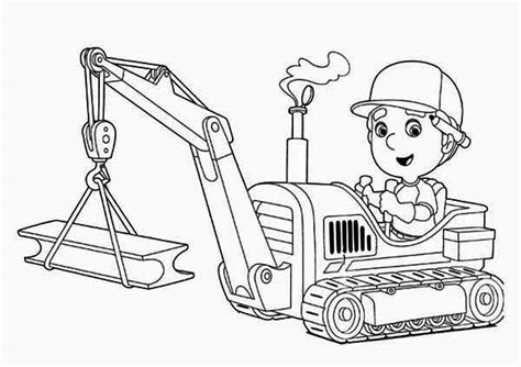 handy manny  tractor coloring page  print