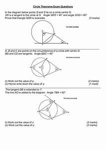 Circle Theorems Exam Questions