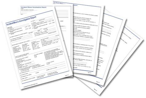 incidentillness investigation report form
