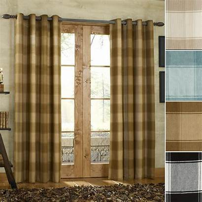 Curtains Curtain Grommet Plaid Country Panel Panels