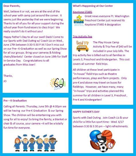 sample preschool newsletter 8 free for word pdf 667 | Free Printable Preschool Newsletter
