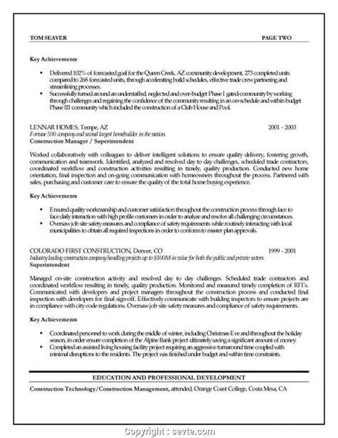 Construction Project Manager Resume by Unique Objective For Construction Project Manager Resume