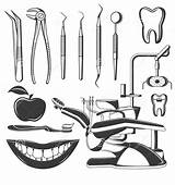 Dentist Clipart Designs Assorted Above sketch template
