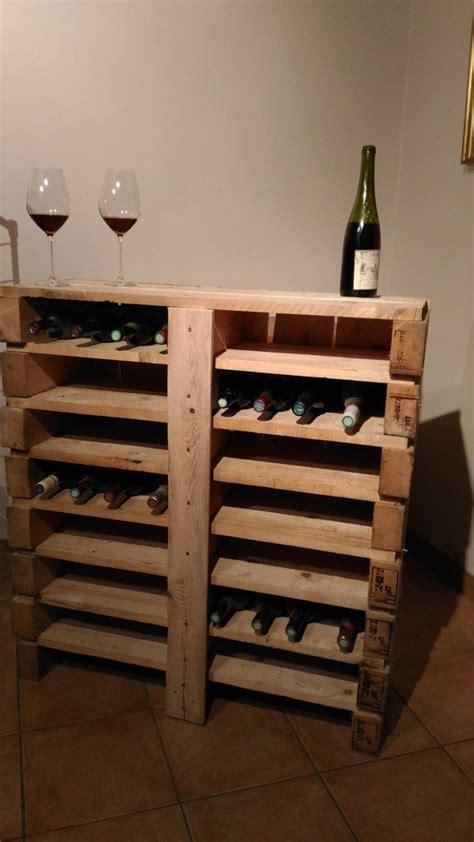 range bouteille pour cuisine bar à vin en bois de palette recyclé créations en bois