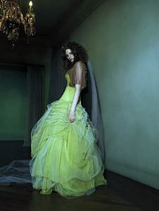 colored wedding dresses muted lime green bridal gown With lime green wedding dress