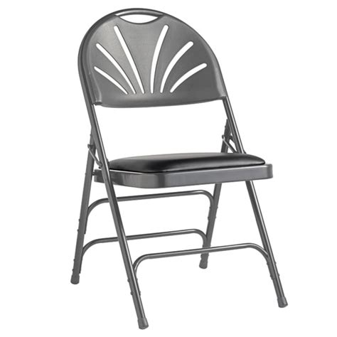 samsonite folding chairs dimensions samsonite fanback steel folding chair with bonded leather