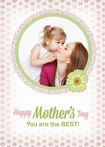 Free Custom Photo Mother's Day Cards PSD Templates