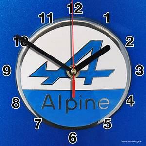 Alpine Renault En Horloge Murale Sur Carosserie Bleue