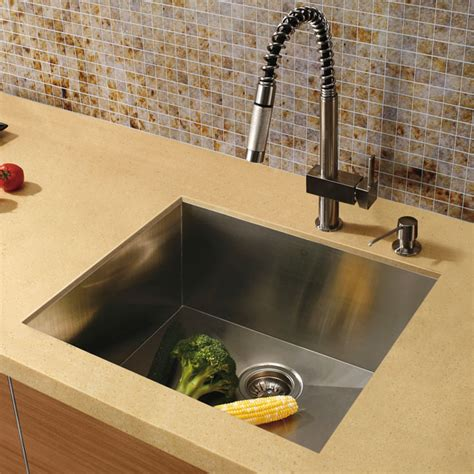 square undermount stainless steel kitchen sink 20 quot au courant quot stainless steel sinks abode