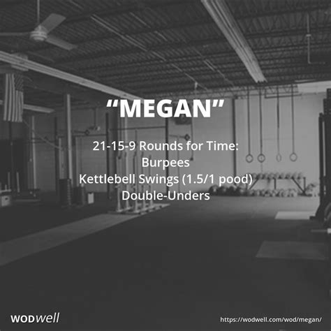crossfit wod wods kettlebell workouts burpees wodwell megan double workout benchmark unders clean rounds swings ignite athletics circuit training leerlo