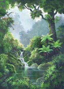 forest pool by ernest papps new zealand prints