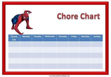 HD wallpapers printable chore chart maker