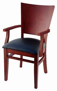 Premium, Curved, Back, Wood, Restaurant, Chair, With, Arms