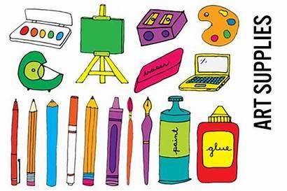 Supplies Clipart Clip Materials Supply Illustrations Hi
