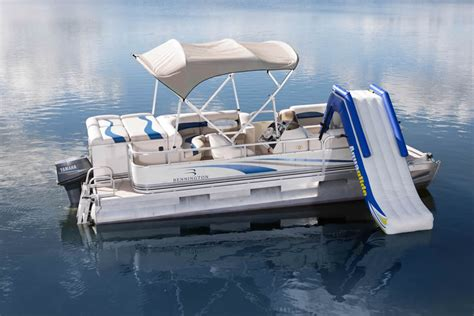 Pontoon Boats With Slides by The Gallery For Gt Pontoon Boats With Bathroom