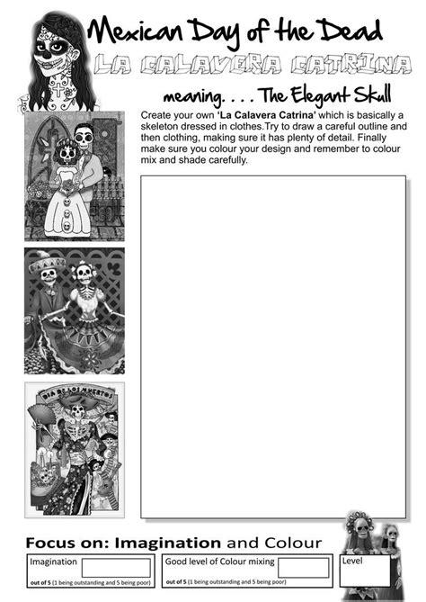english worksheets day   dead worksheet art