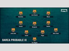 Barcelona & Real Madrid team news Injuries, suspensions