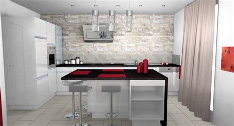 cuisine blanc laque cuisine moderne parement contemporain mobilier