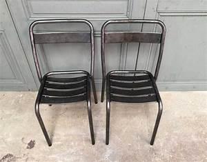 Chaise Bistrot Metal : ensemble 10 chaises bistrot tolix t1 ~ Teatrodelosmanantiales.com Idées de Décoration