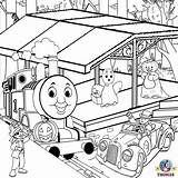 Coloring Thomas Pages Train Truck Printable Halloween Toy Tank Engine Tonka Tunnel Drawing Garbage Friends Farm Trucks Colour Colouring Station sketch template