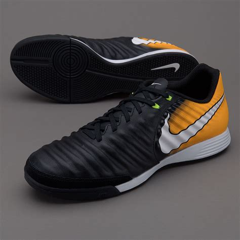 sepatu futsal nike original tiempo ligera iv ic black white laser orange volt