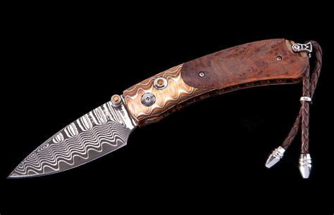 william henry kitchen knives william henry kestrel redwood compact folder 2 125 quot wave damascus blade with zdp 189 core