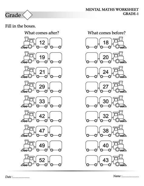 numbers worksheet  images kids math