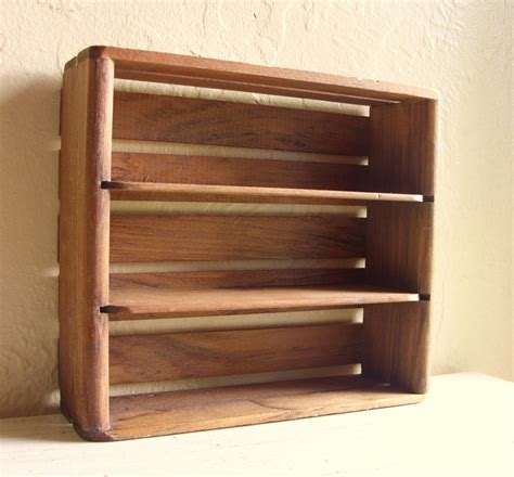 Small Rustic Wood Crate Shelf Wooden Shadow Box Curio Shelves