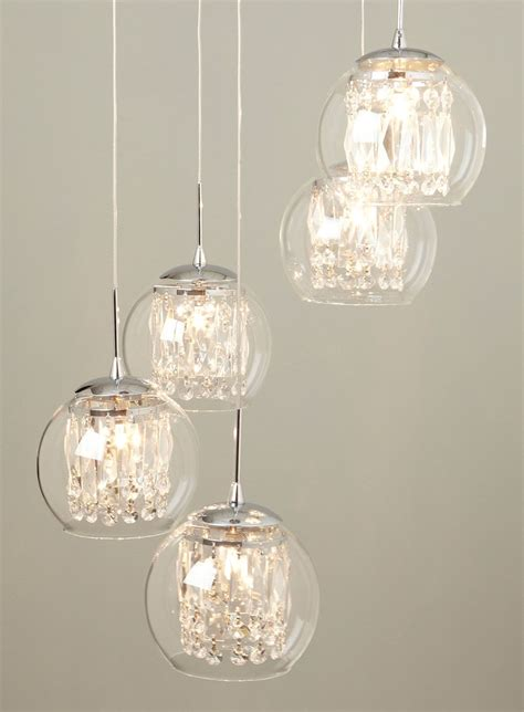 Kitchen Lights Bhs by Glass Spiral Pendant Chandelier Lighting For