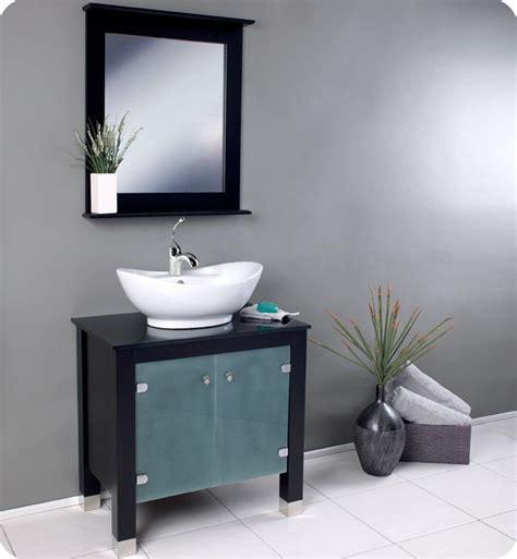 white vessel sink vanity stunning fresca emotivo bathroom vanity with white vessel sink