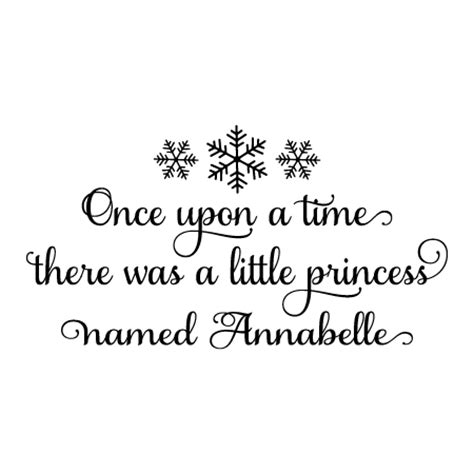 snowflake custom princess wall quotes decal wallquotescom