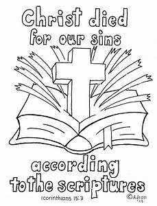 john 3 16 coloring page - coloring pages for kids by mr adron 1 corinthians 15 3