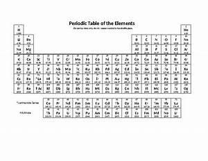 Simple Microsoft Word Editable Printable Periodic Table ...