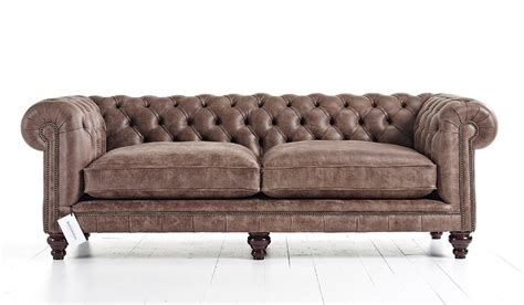 Hampton Tufted Chesterfield Sofa  Tufted Couch