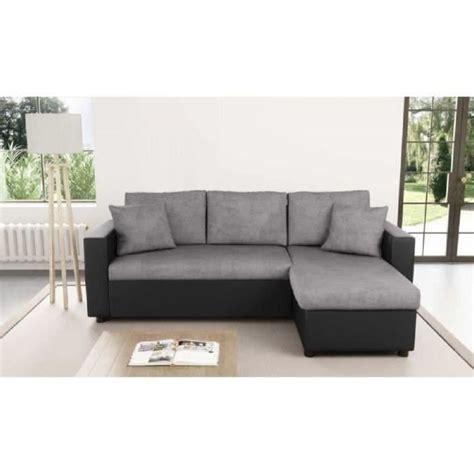 canape d angle cdiscount canapé d angle convertible gris noir achat vente