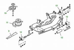 John Deere Gt235 48c Mower Deck Parts