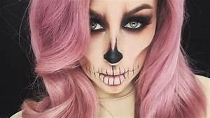 Cute Half Skull Makeup | www.pixshark.com - Images ...