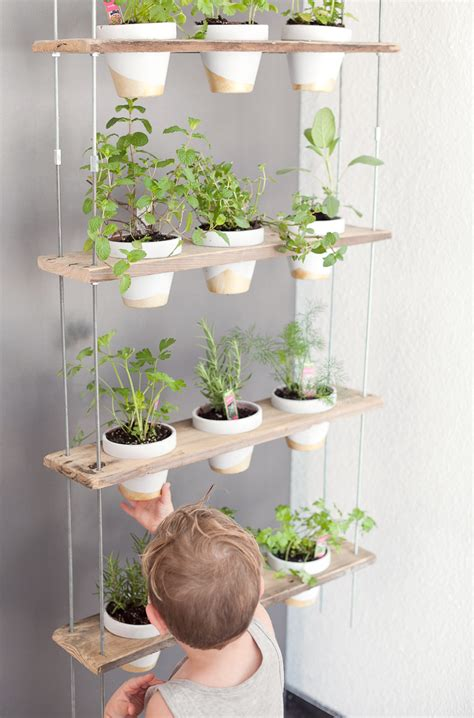 custom potted hanging herb garden diy fresh