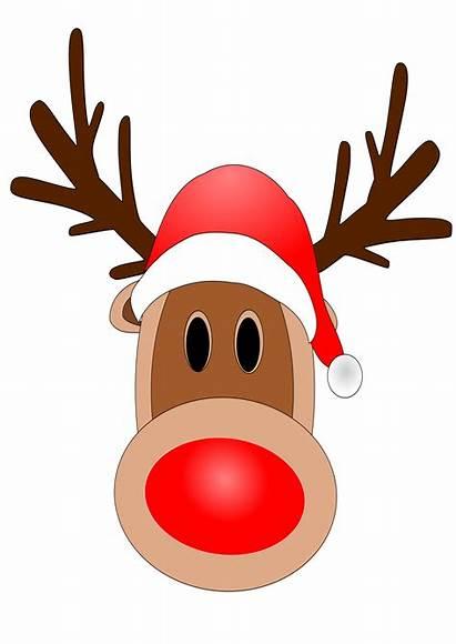 Nose Clipart Rudolph Clip Face Reindeer Outline