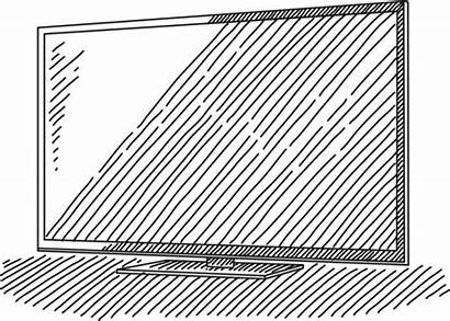 Tv Screen Flat Vector Drawing Television Clip